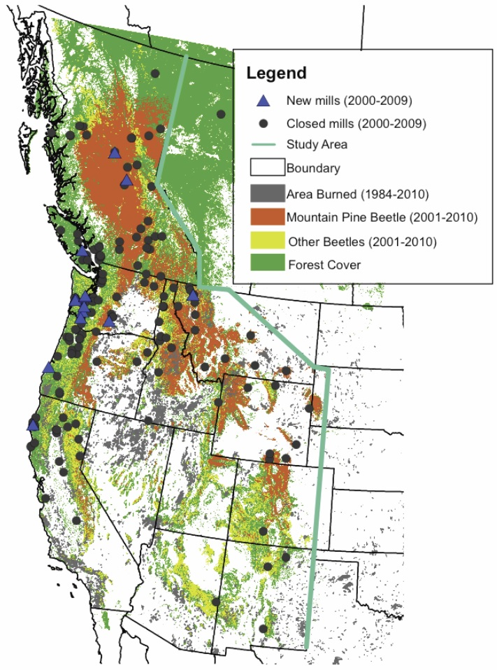 Forest Mortality  Economics  and Climate in Western North America  FMEC    climateprediction
